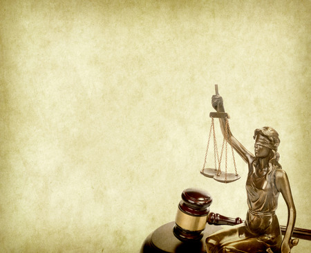 lawyer symbol: Statue of justice,law concept