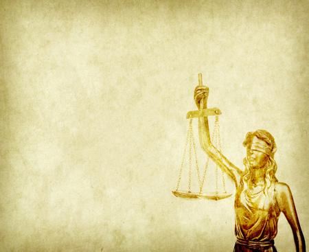simbolo: Statua della giustizia, nozione di diritto Archivio Fotografico