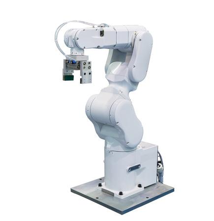 分離された工業用ロボット アーム 写真素材