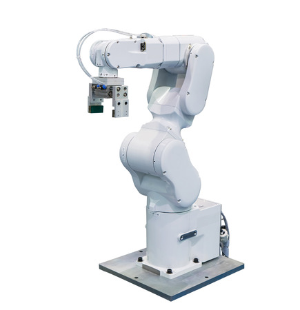 robot arm for industry isolated