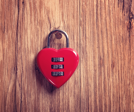 holdfast: Combination lock with a red heart