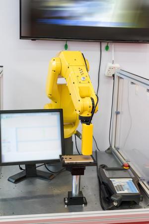 kinescope: Controler of robotic hand Stock Photo