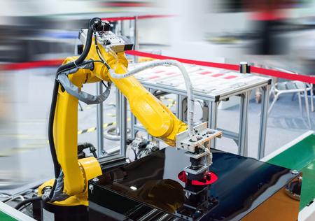 robot hand machinegereedschappen op industriële productie in de fabriek