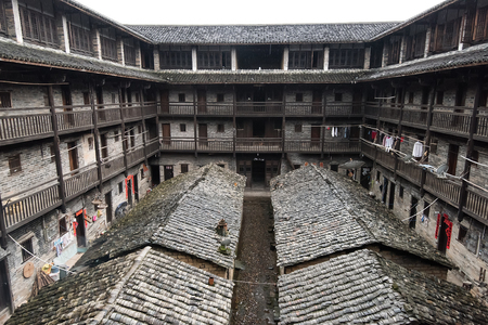 dwelling: Hakka Enclosed located in JiangXi, China