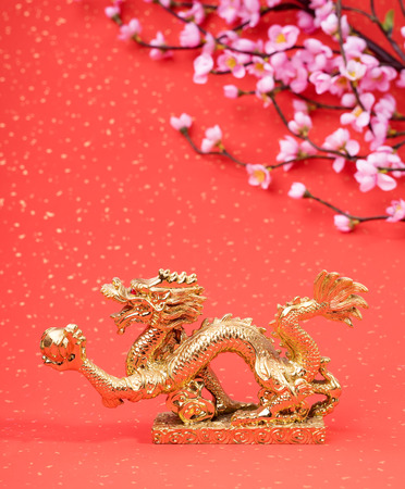 New year decoration with dragon art