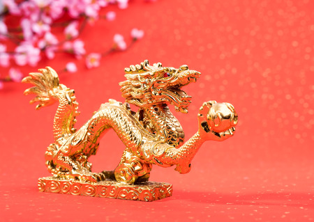 classical: New year decoration with dragon art