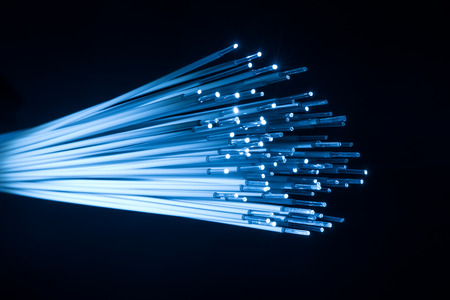 fiber optic for global communication Stock Photo
