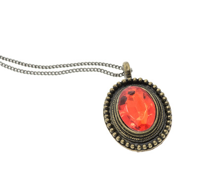 broach: The beauty diamond pendant Stock Photo