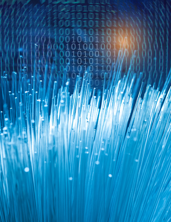 fiberoptic: fiber optic data transfer data