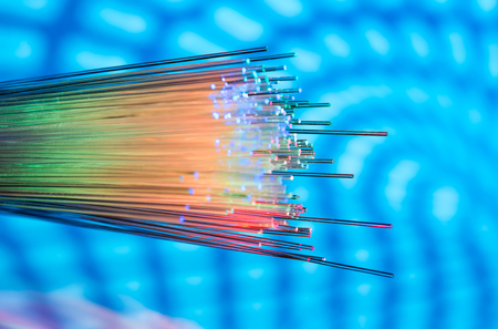 fiberoptic: optical fiber with details and light effects