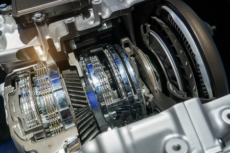 Automotive transmission gearbox Stock Photo