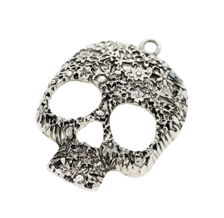 skull pendant on a white background Stock Photo