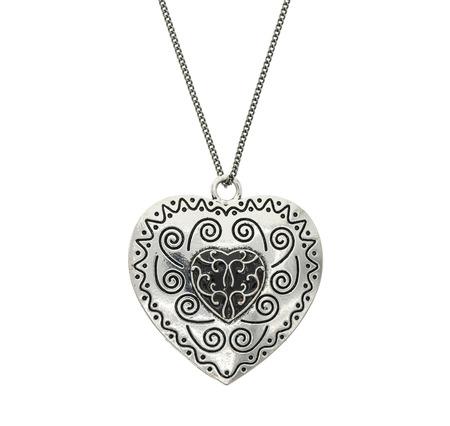 Vintage big heart shaped pendant Stock Photo