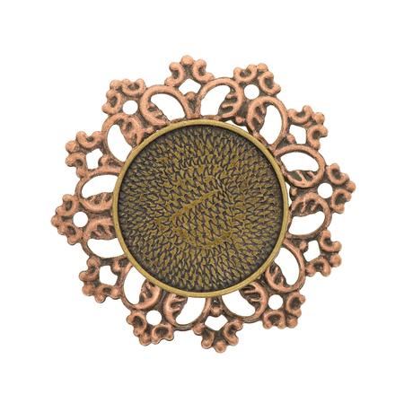 Vintage pendant isolated on white background Stock Photo