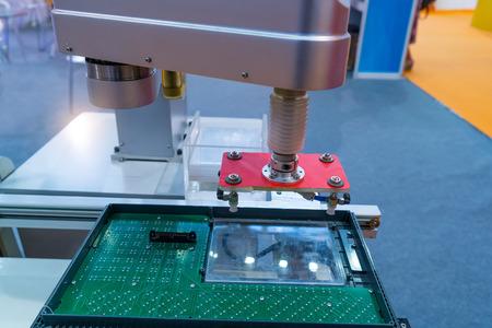 mano robotica: Controler of robotic hand Foto de archivo