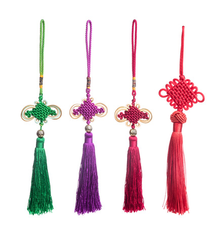 natty: Traditional chinese knots collection on white background