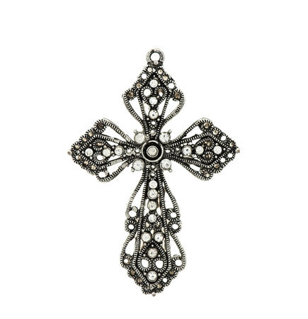 cross frames cross pendant isolated on white background