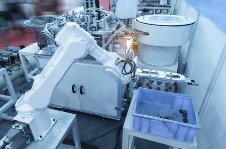 robot working in factory,Controler of robotic hand.