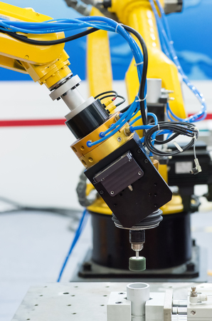 Robotic arm at production line Polished in factory