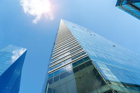 below: Gigantic skyscrapers from below