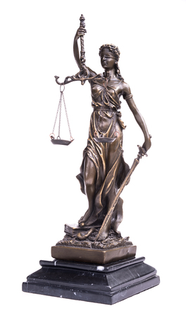 constitutional law: Statue of justice, law concept