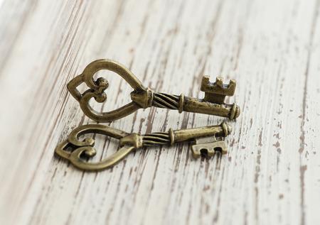 bronze  keys. Stock Photo