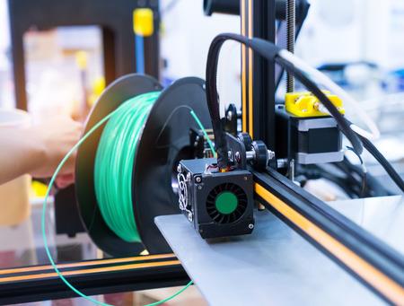 customizable: Three dimensional printing machine Stock Photo