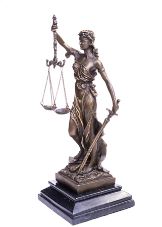constitutional law: Statue of justice,law concept