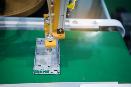 industrial industry: mobile industrial manufacture factory,Smart industry 4.0 concept.