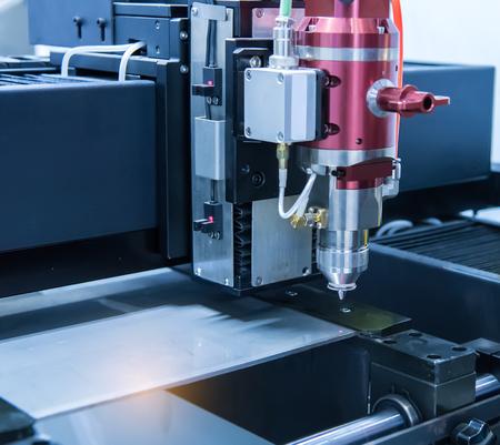 computerised: Laser cutting of metal sheet, 3D rendering