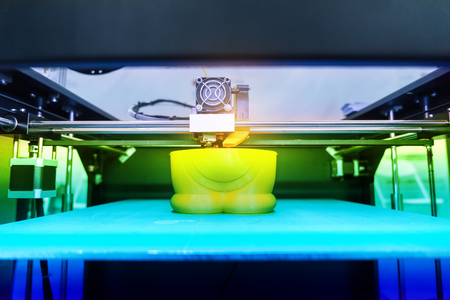 3D printer,Three dimensional printing machine Stock Photo
