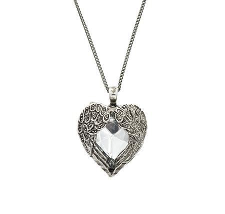 varnished: Vintage big heart shaped pendant Stock Photo