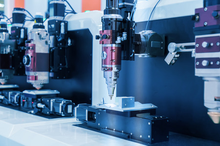 the workpiece: laser CNC cut machine while cutting the sheet metal