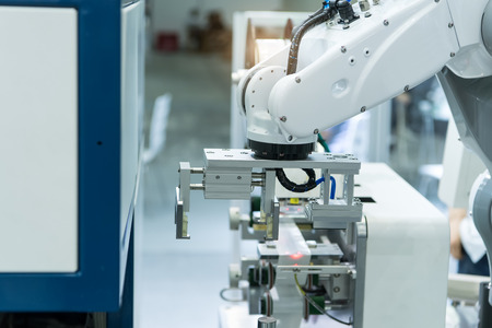 Robotic and Automation system control application on automate robot arm Standard-Bild