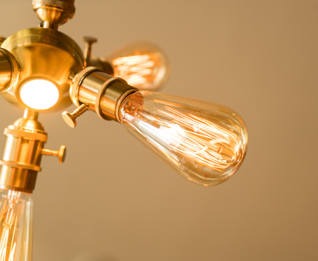 light bulb hanging on Stock Photo