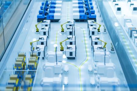 Applicazione di controllo del sistema robotico e di automazione sul braccio del robot automatico Archivio Fotografico - 82109194