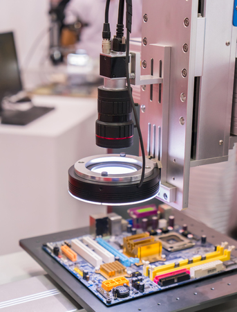 prototyping: Robotic machine vision system in factory,automated scanning.