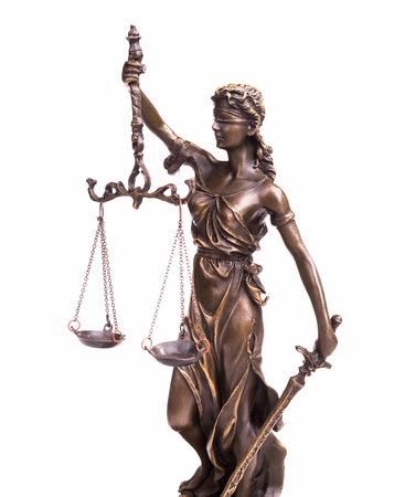 Statue of justice law concept