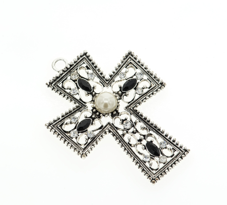 cross pendant isolated on white background