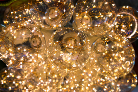 Christmas Led Bulb Light Background