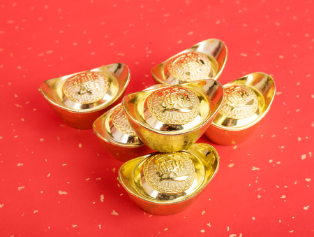 Chinese gold ingot for decoration