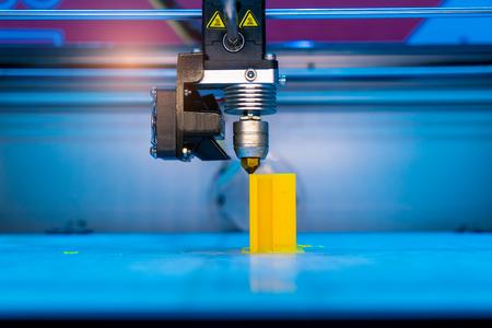 Three dimensional printing machine,3D printer. Banco de Imagens - 98264743