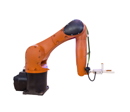 robot arm isolated on white background