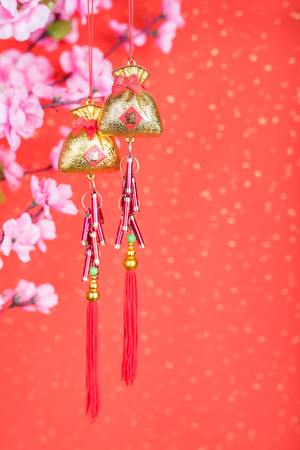 Chinese new years decoration for Spring festival,translation:calligraphy mean full of good bless and money