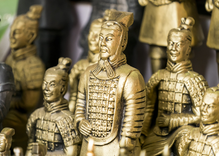 terracotta army figure in china Reklamní fotografie