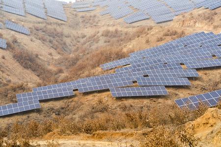 Solar energy modern electric power production technology renewable energy concept