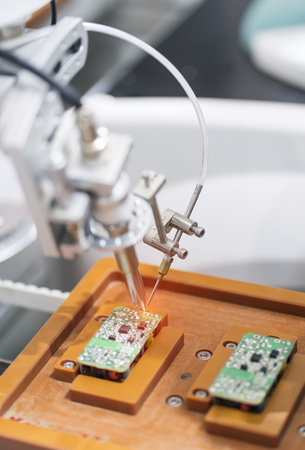 robotic soldering used in soldering multilayer board and shielding case
