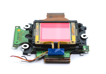CCD sensors from the modern mass compact digital camera Isolated