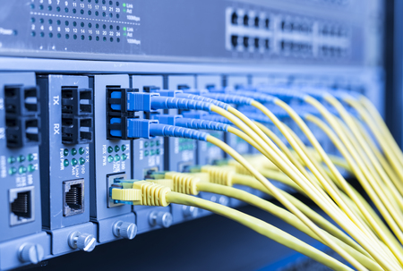optical fibre information technology equipment in data center