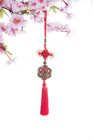 Traditional chinese knots collection on white background
